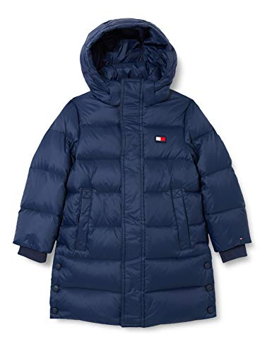 Tommy Hilfiger Unisex U Oversized Down Parka Jacke, Twilight Navy, 14