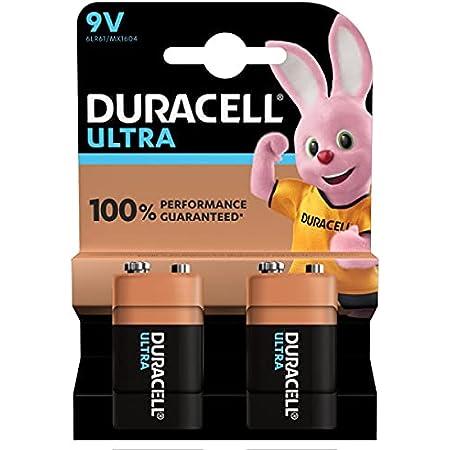 Duracell Ultra 9V, lot de 2 piles
