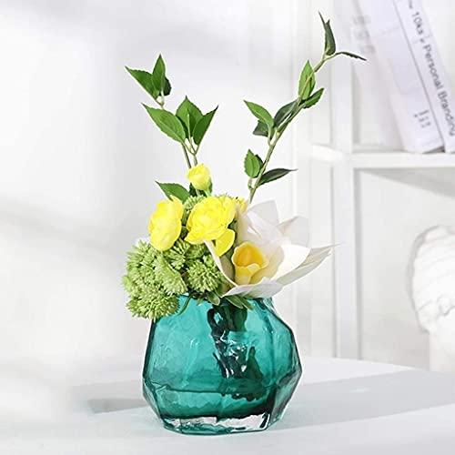 LSZ Flores Artificiales Flores de Seda Planta Artificial Potted Flores Artificiales Establecer Flores Falsas Decoración for Mesa Flores Artificiales