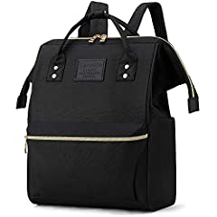 【LOTS OF STORAGE SPACE&POCKETS】 One separate laptop compartment hold 15.6 Inch Laptop as well as 15 Inch,14 Inch and 13 Inch Macbook/Laptop. One spacious packing compartment roomy for daily necessities,tech electronics accessories. Front compartment ...