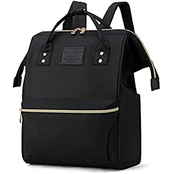 Tzowla Backpack Purse for Women Stylish College School Travel Casual Daypack Bookbag,Work Shopping Small Bag Light Weight For Men Girls Boys Student Fits 13.3 Inch Laptop Netbook- Black
