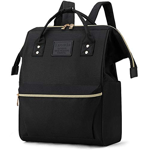 Tzowla Backpack Purse for Women, Stylish College School Travel Casual Daypack Bookbag,Work Shopping Small Bag Light Weight For Men Girls Boys Student Fits 13.3 Inch Laptop Netbook- Black