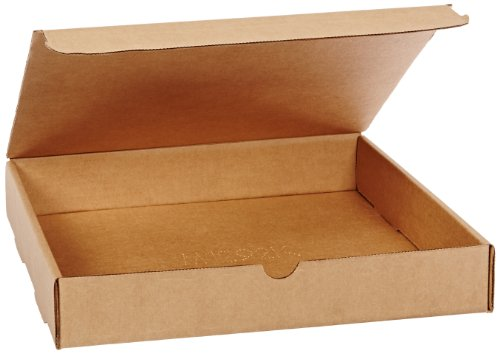 Aviditi Brown Kraft Literature Mailing Boxes, 12 1/8 x 9 1/4 x 2 Inches, Pack of 50, Crush-Proof, for Shipping, Mailing and Storing