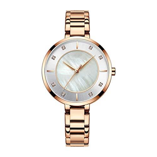 QHG Relojes de Mujer Rose Gold Reloj de Lujo Mujeres Cuarzo A Prueba de Agua Reloj de Pulsera para Mujer Ladies Girls Relojes Reloj (Color : D)
