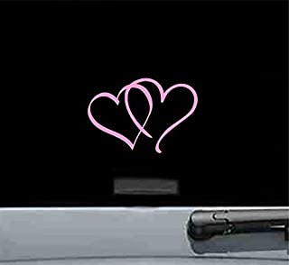 Best double heart decal Reviews