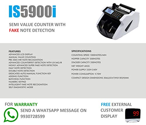 KROSS Currency/Note/Counting Machine with Fake Note Detection for New and Old Notes