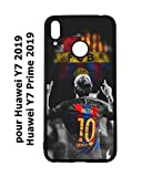 coque-personnalisable® Coque pour Huawei Y7 2019 / Y7 Prime 2019 Lionel Messi 10 FC Barcelone Foot...