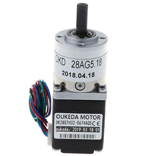 TLF-FF Planetengetriebe Nema 11 Stepper Motor 0.67A, 2 Phase, 4 Wires Geeignet for DIY CNC-Roboter