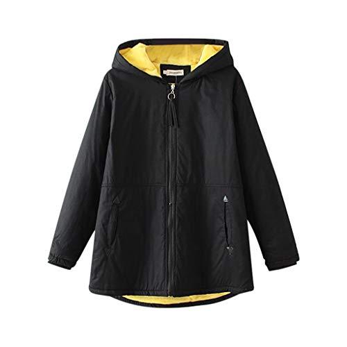URIBAKY Übergangsjacke Damen Winterjacke Große Größen,Kaputzenmantel mit Reißverschluss,Dicke Sweatshirtsjacke Hoodie Warmer-Flauschige Jacken für Damen Winterpaka