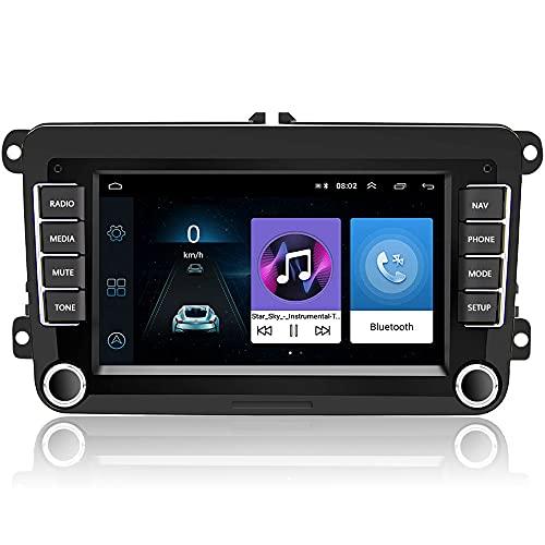 Camecho Android Car Radio para VW Navegación GPS 7 Pulgadas HD Pantalla táctil Bluetooth Am FM Receptor Jugador para Passat Golf Jetta EOS Polo Touran Seat Sharan