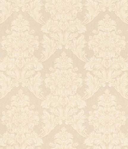 Casa Padrino Barock Textiltapete Creme 10,05 x 0,53 m - Tapete im Barockstil