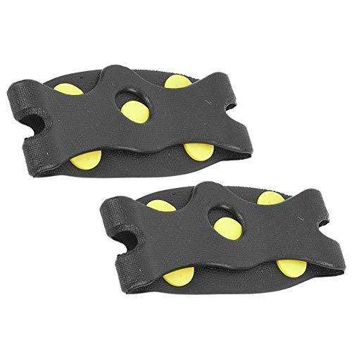 VGEBY 1 Paar Skischuh-Bezug, 5-zahnige, rutschfeste Spikes-Schuhklampen Ski-Eisschuh-Abdeckung Zubehör zum Wandern Klettern
