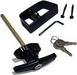 Shed Door T-Handle Lock Kit - Longer 5-1/2