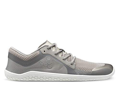 Vivobarefoot Primus Lite Womens, Vegan Light Movement Breathable Shoe with Barefoot Sole Ash Grey