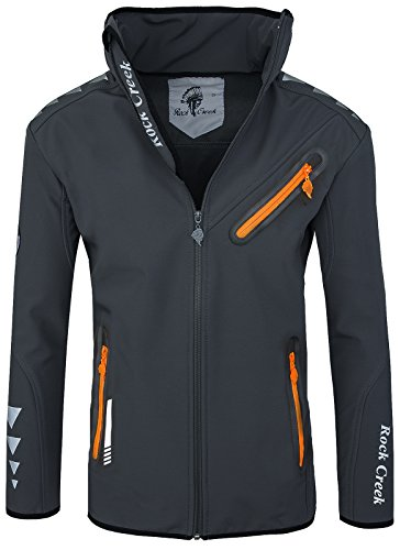 Rock Creek Herren Softshell Jacke RC-09[Grau XL]