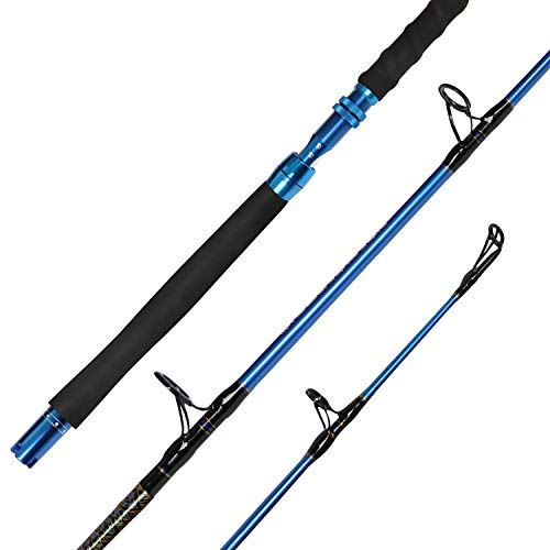 Fiblink Saltwater Graphite Jig Jigging Spinning Fishing Rod Deep Sea Jig Pole (6-Feet, Heavy, 80-120lbs)