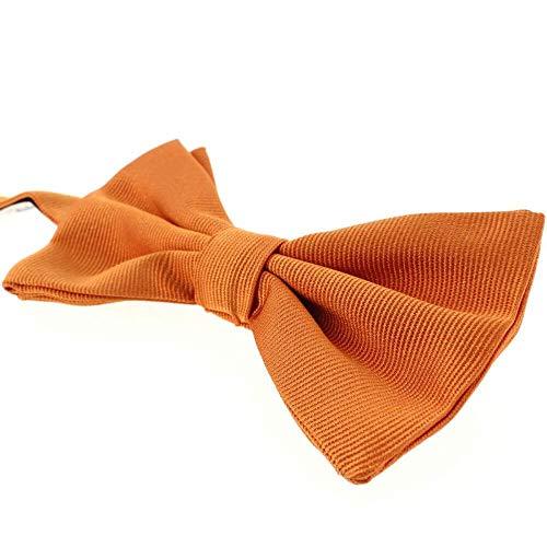 Tony & Paul - Noeud Papillon Soie Italienne, Orange Rame
