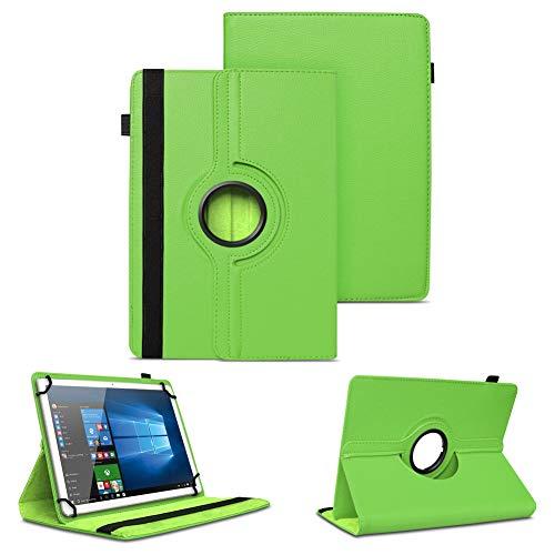NAUC Schutzhülle kompatibel für Archos Copper 101C Tablet Tasche Universal Hülle aus Kunstleder Standfunktion 360 Drehbar Cover Hülle, Farben:Grün