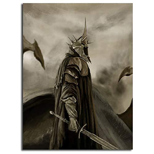 lienzo Pintura Lotr Witch King Of Angmar El Señor de los anillos cartel artístico pintura cuadro de pared impresión moderna...