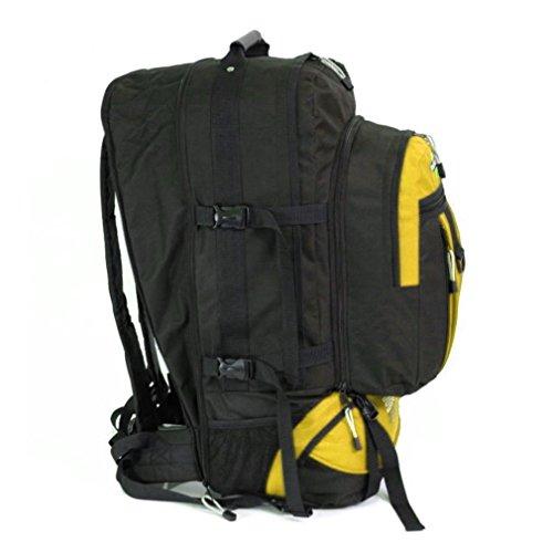 Karabar Globe Traveler 105 liter grote rugzak met afneembare Daypack - 3 jaar garantie! (Zwart/Mosterd)