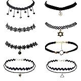 ANGAZURE-DE 8 Stück Henna-Halskette,Tätowierunghalskette ür Damen Und Mädchen Hochwertige Spitze