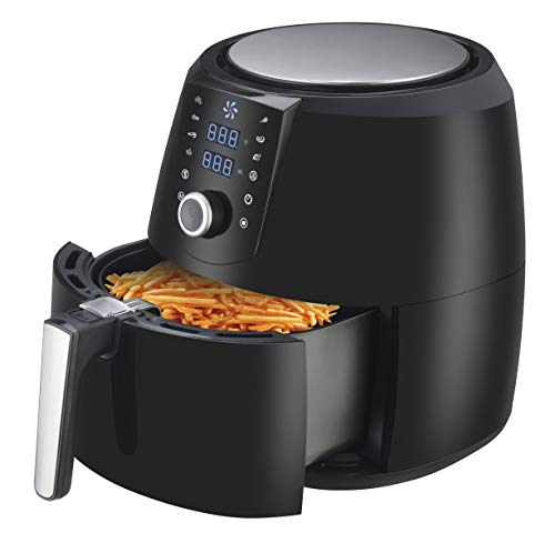 Emerald 5.2 Liter Keep Warm Air Fryer With Timer and Temperature Control, 1800 Watts (1809)