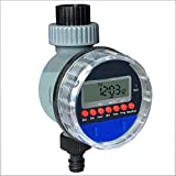 QWER Automático Pantalla LCD electrónica Válvula de Bola en el hogar Temporizador de Agua Jardín Regulador del riego Sistema de Control de riego,Negro