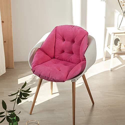 Cojines de cintura de terciopelo gris de cristal antideslizante cojín de asiento suave para silla de oficina para sillas de comedor PP algodón cojines silla cojines con lazos 40* 48 cm