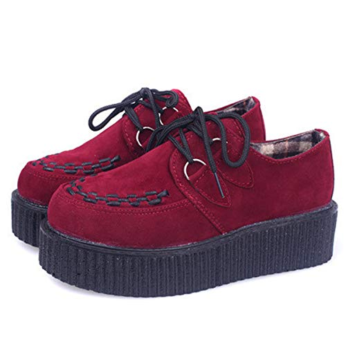 Dear Time Fashion String Rope Women Platform Shoes FBA, A-red, 8.5