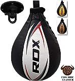 RDX Vitesse Ball Cuir Boxe Poire De Frappe Entrainement MMA Speed Bag Muay Thai Punching Ball et Pivotant Rotule Plafond