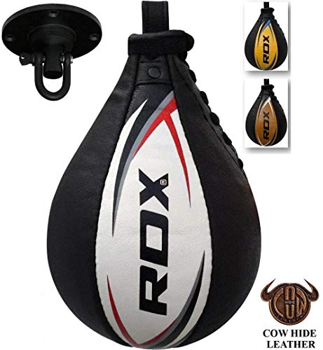RDX Speed Ball Boxing Genuine Leather MMA Muay Thai Training Punching Dodge Striking Bag Kit Hanging...