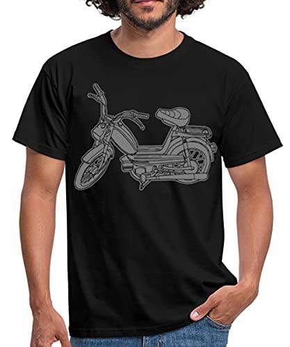 Mofa Roller Moped Motor-Fahrrad Männer T-Shirt, XL, Schwarz
