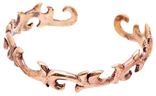 WINDALF Elfen Damen Armreif ARKONA Ø 5.6 cm Mittelalter Ornamente Vintage Hochwertige Bronze