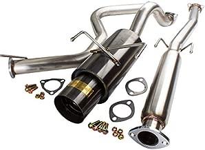 AJP Distributors Jdm Gunmetal Black Catback Exhaust Muffler System Stainless Steel Piping Pipe For 1996 1997 1998 1999 2000 96 97 98 99 00 Honda Civic Ek Hatchback 3 Door