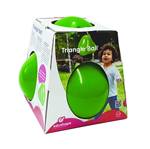Wobbles Triangle Shaped Sensory Ball - Bright Green Therapeutic Toy Can Be Tossed And Bounced Around - Unique Shape Entertains Children And Creates Fun Play!