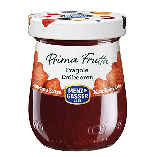 Menz & Gasser Confettura Extra di Fragole Prima Frutta - Confettura con Frutta di Alta Qualità, 1 Vaso x 340 g
