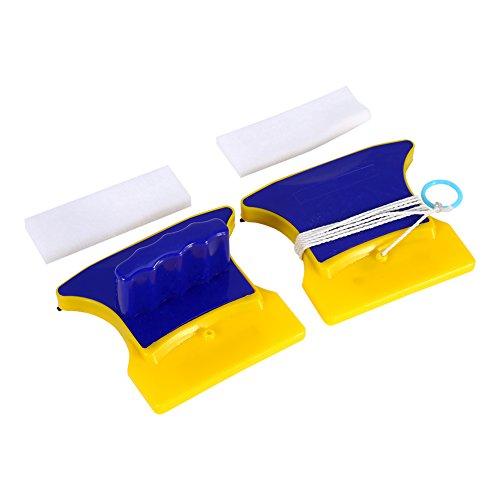 Yosoo - Limpiador de cristales de doble cara magnético, limpiador de cristales, limpiador de limpiaparabrisas, cepillo de limpiaparabrisas, herramientas de cocina y baño
