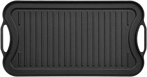 Amazon Basics Pre-Seasoned Cast Iron Reversible Grill/Griddle