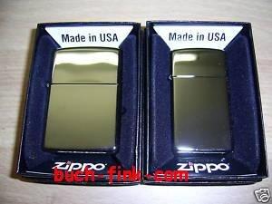 Zippo briquet duo regular slim chrome poli