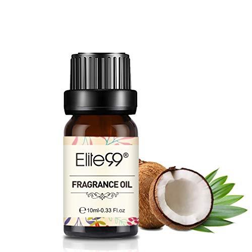 Elite99 Aceites de Fragancia, Aceites Esenciales para Humidificadores, Aceites de Aromaterapia de Coco y vainilla 10ML