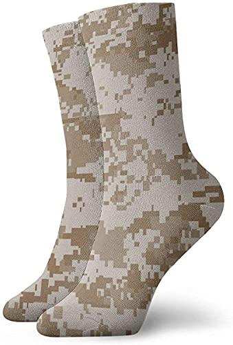 IUBBKI Calcetines unisex Digital Desert Camo Calcetines de tobillo personalizados Medias atléticas Calcetines casuales 30cm para hombres y mujeres