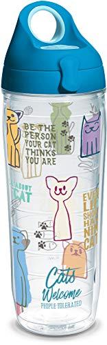 Tervis Copo isolado Cat Sayings, garrafa de água de 700 ml, transparente - Tritan
