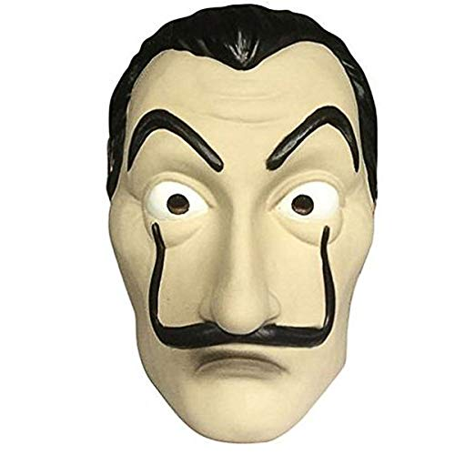 HOMELEX LACASA DE Papel Costume Coverall Dali Mask Group Costumes for Adult Halloween Party Dance Show (Mask)
