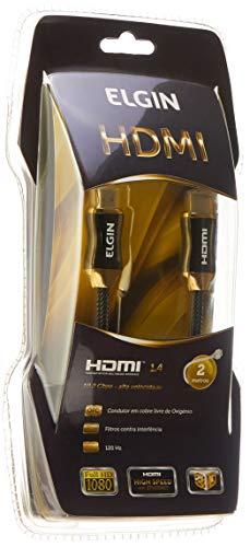 Cabo Premium HDMI-HDMI com Filtro e Conector Banhado a Ouro de 2 Metros, Elgin