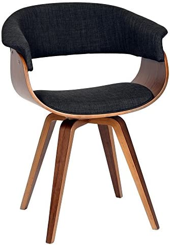 Best Armen Living Summer Chair in Charcoal Fabric and Walnut Wood Finish