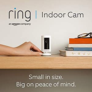 Introducing Ring Indoor Cam by Amazon | Compact Plug-In HD security camera with Two-Way Talk, Works with Alexa | With 30-day free trial of Ring Protect Plan | White