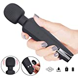 Wand Massager Cordless Electric Handheld Portable Waterproof Viberate Massager 20 Vibration Patterns Relaxation Massage for Neck Shoulder Back Body Massage, Sports Recovery Therapeutic Muscle
