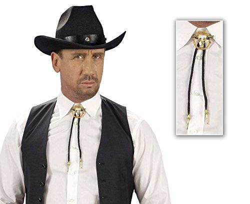 NET TOYS Cowboy Krawatte Western Fliege Binder Westernkrawatte Western Rodeo Kostüm