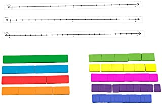 Didax Educational Resources Fraction Tile Number Line Set
