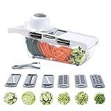 千切り スライサー 1台7役 ABS高品質版 料理 野菜 調理器 セット薄切り 細せん切り おろし スライス サラダ 滑り止め 安全ホルダー付